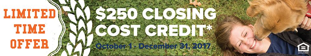 Mortgage Closing Cost Credit Q4 2017