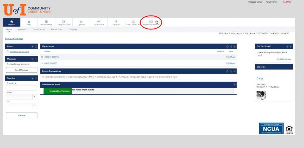 iBranch Screenshot - Clicking Rewards