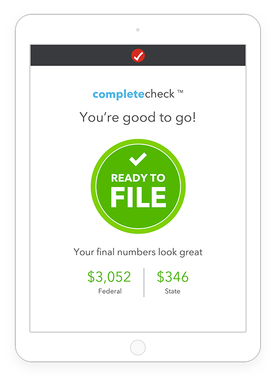 turbotax complete check