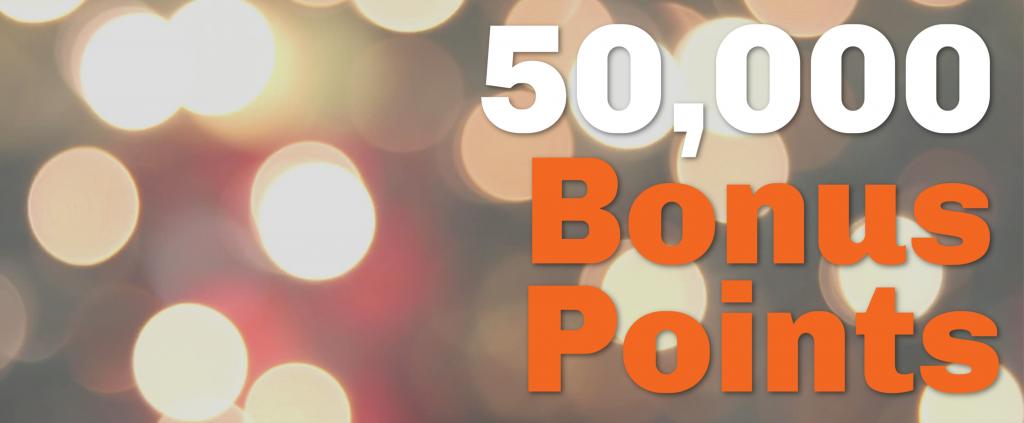 50,000 Bonus Points