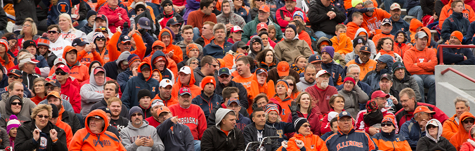 Illini Fans in the Stands