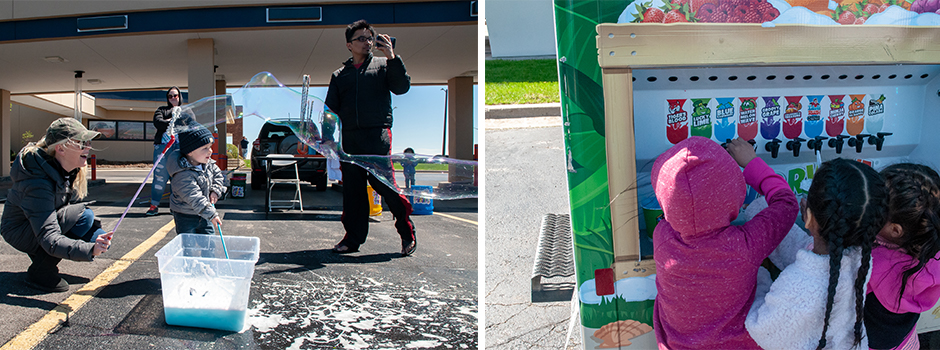 Shred-a-Palooza - Kids having fun with bubbles and shaved ice