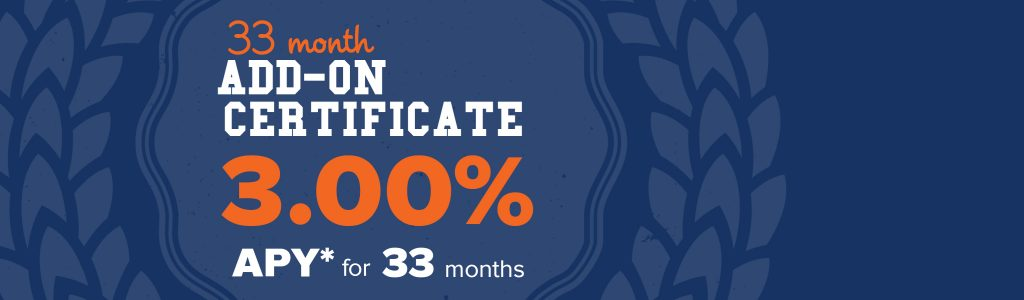 33 Month Certificate Promo