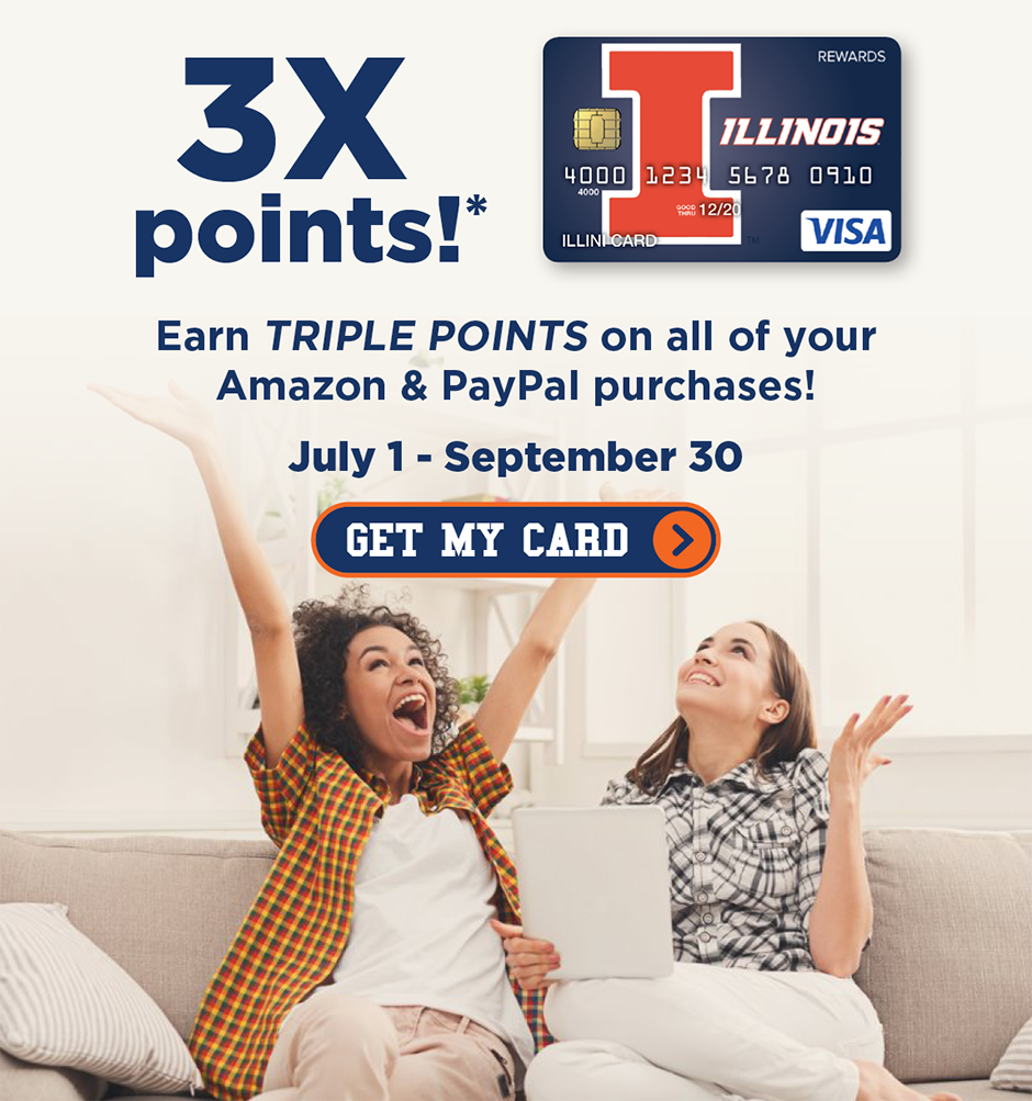 Rewards Card Offer - 3x Points - Two Women Cheering