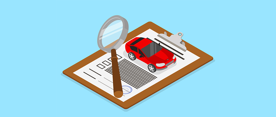 Cartoon Image of Car Loan Documents