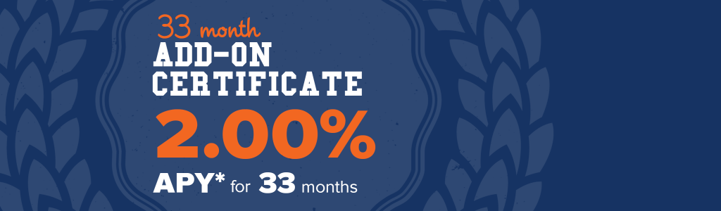 33 Month Add On Certificate Graphic