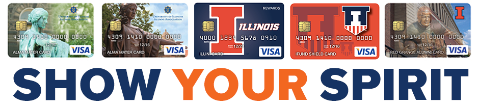 Image contains images of Illini credit cards