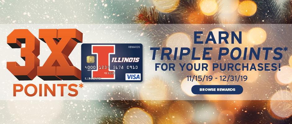 Illini VISA Rewards Offer - 3X Points on Purchases*