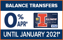 Balance Transfer Offer - 0% APR* on Balance Transfers until January 2021!