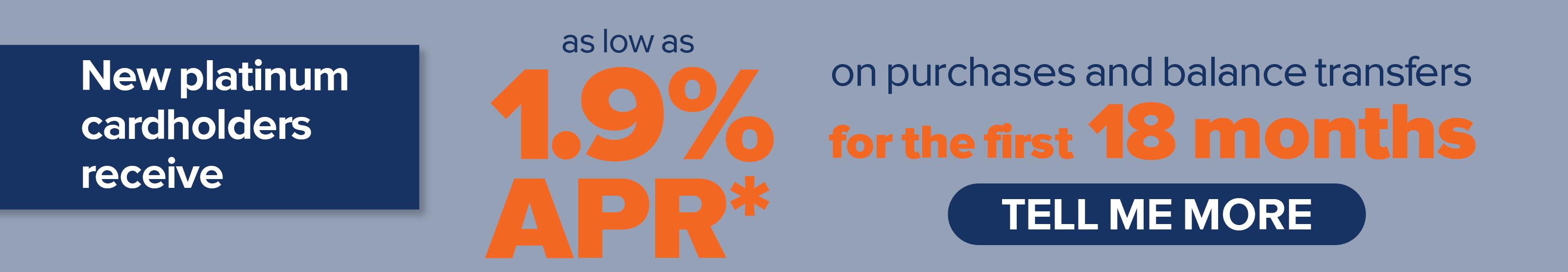 UICCU 1.9% APR* on Purchases & Balance Transfers Visa Promo