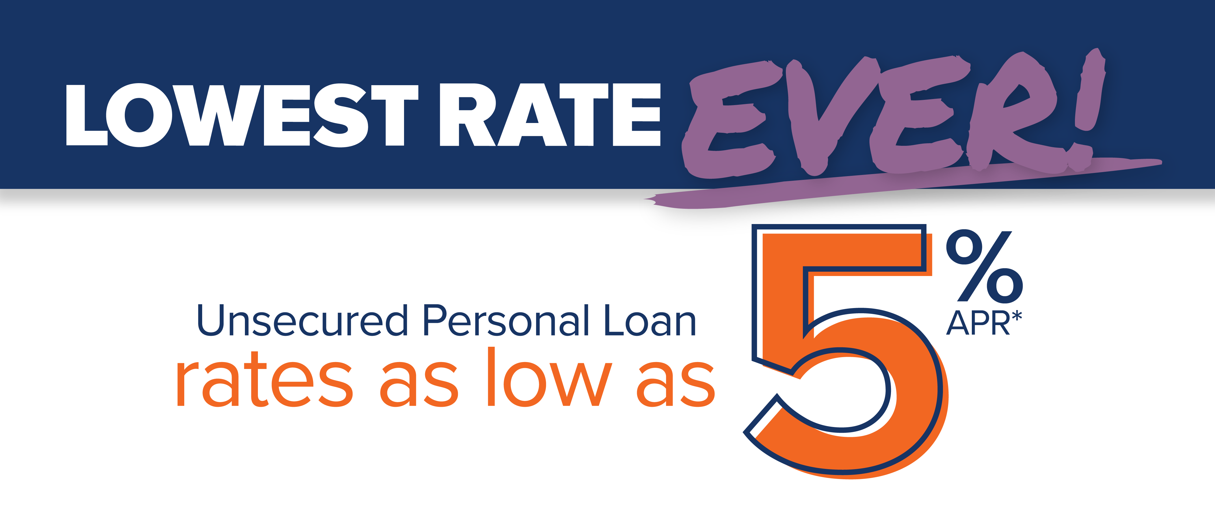 Unsecured Personal Loan rates as low as 5% APR*