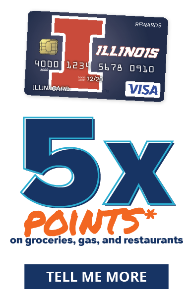 5X points* on gas, groceries, and restaurants